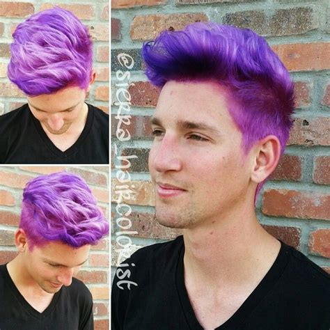 Purple Hair Mens Hair Color Sierrahaircolorist