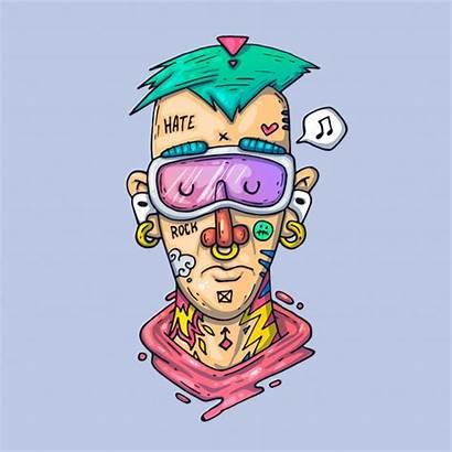 Face Cartoon Rapper Tattoo Tattoos Visage Premium