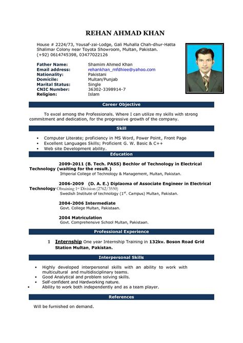 image result  fresher resume format   ms word