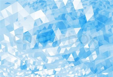 abstract chaotic bright blue digital triangle low poly