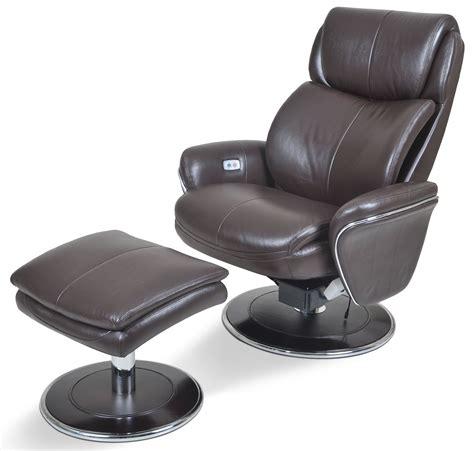 ergonomic leather espresso chair ottoman from cozzia