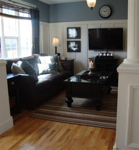 nice smoky blue with brown couch living room pinterest