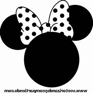 Minnie Mouse Face Clipart Black And White - ClipartXtras