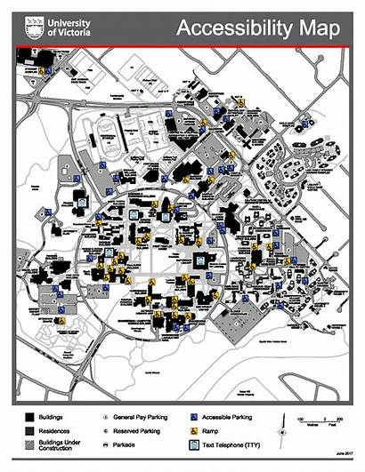 Map Campus Maps Accessibility Uvic Buildings Victoria