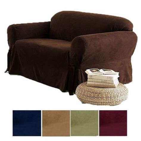 pc soft micro suede couch sofa loveseat slip cover brown black beige sage  ebay