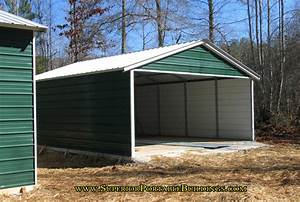 vertical roof steel carport vc 7 With 3 sided metal building