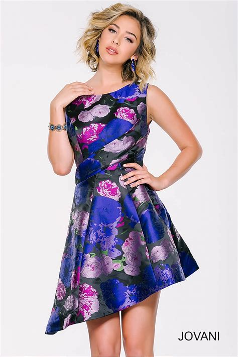 multi colored dress asymmetrical fitted multicolored floral print