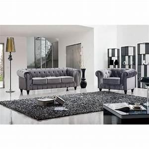 15 canapes au style retro pour parfaire la deco de votre salon With tapis design avec canape capitonne velours
