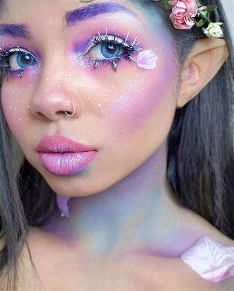 apply  fairy makeup  pretty designs
