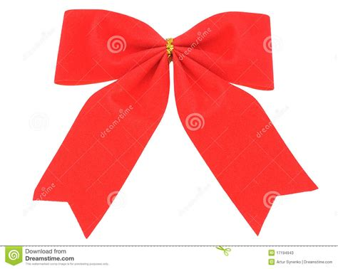 red bow christmas decoration stock photos image 17194943