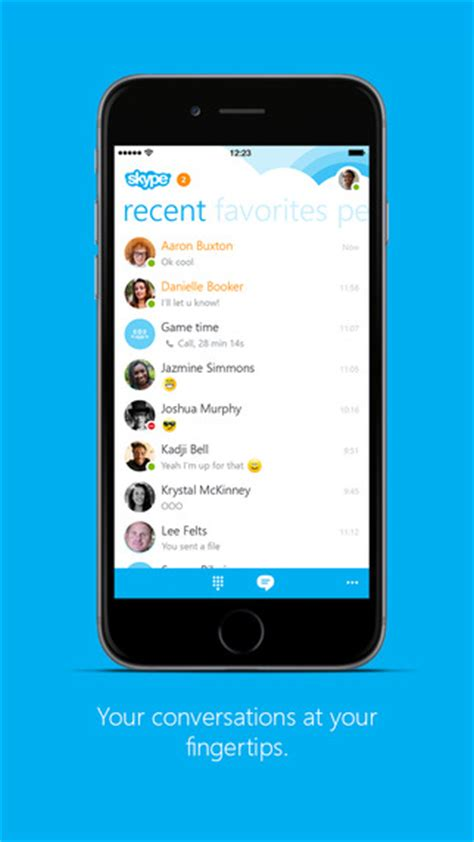 skype app for iphone skype for iphone on the app on itunes