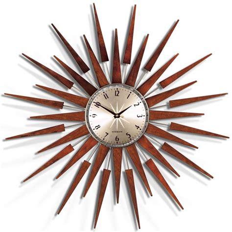 newgate pluto clock retro starburst wall clock