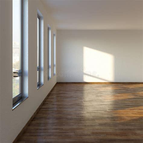 chambre du vide salon vide avec le plancher en stratifié illustration