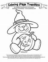 Coloring Clipart Halloween Clip Dulemba Library Cartoon Bear Tailor Sharon Azcoloring sketch template