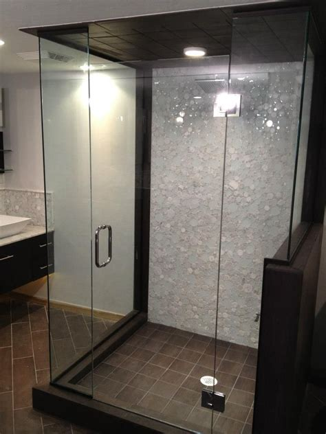 stand up shower with glass tiles house of dreams