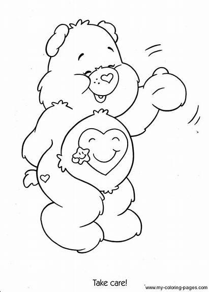 Care Coloring Bear Bears Colouring Troskliwe Printable