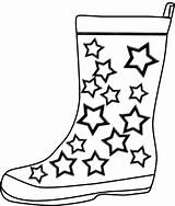 Boots Coloring Rain Pages Winter Cowboy Boot Printable Template Clipart Drawing Templates Cliparts Crafts Shoes Cartoon Az Azcoloring Print Construction sketch template