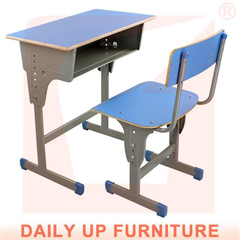 school assemble study table and chair adjustable height