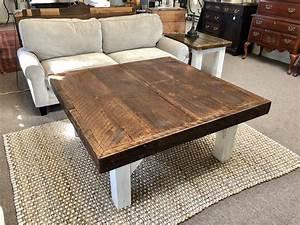 Rustic, Square, Coffee, Table, U2013, Chic, U0026, Antique