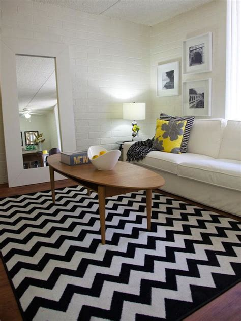 Chevron Rug Target black and white chevron rug contemporary living room