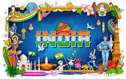 India Background Illustration Diversity Culture Showing Incredible