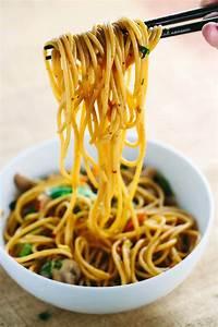 Stir Fried Garlic Noodles Recipe with Chicken Jessica Gavin