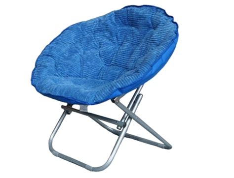comfy corduroy moon chair cus blue fold able chair