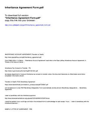editable inheritance letter sample fill print
