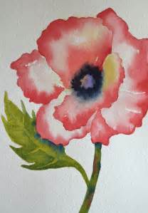 Red Poppy Flower Watercolor Painting
