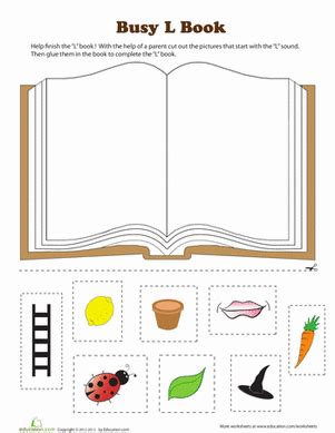 l book worksheet education 495   book phonics letter l preschool