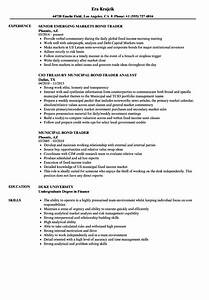 Municipal bond trader cover letter admissions essay topics for Resume bond paper