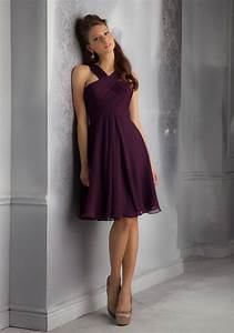 short luxe chiffon morilee bridesmaid dress with draped With robe de cocktail chanel