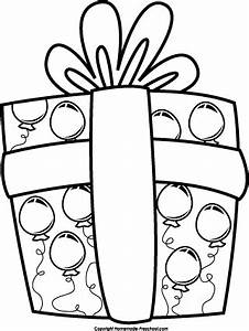 Birthday present clipart black and white - Cliparting.com