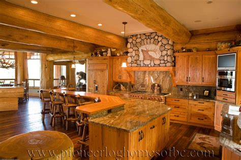 Log Homes Kitchen & Dining Image Gallery  Bc, Canada