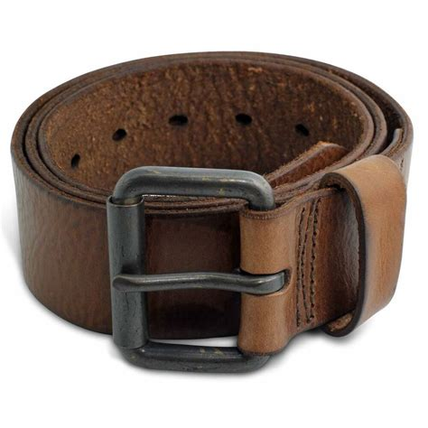 Cowhide Leather Belt by 1075 S Casual Caramel Genuine Cowhide Grain