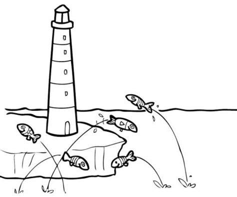 kostenlose malvorlage sommer leuchtturm zum ausmalen