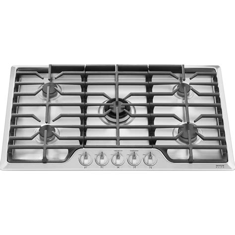 stainless steel gas cooktop kenmore elite 32713 36 quot gas cooktop stainless steel