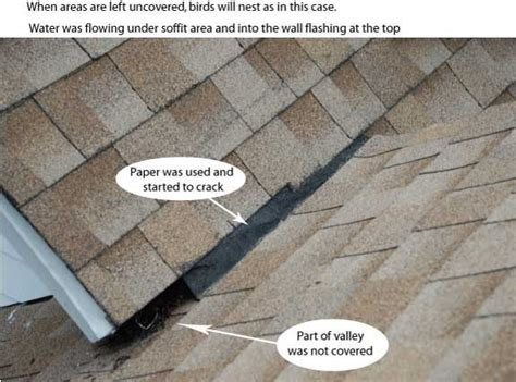 roof valley flashing common problem   leaks darien