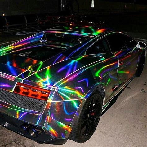 neon rainbow gallardo cool cars pinterest