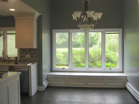 minimalist window seat  simple element  grand