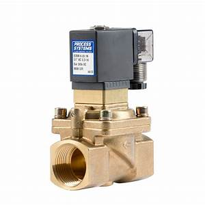 Normally Closed Brass Solenoid Valve Manual Override