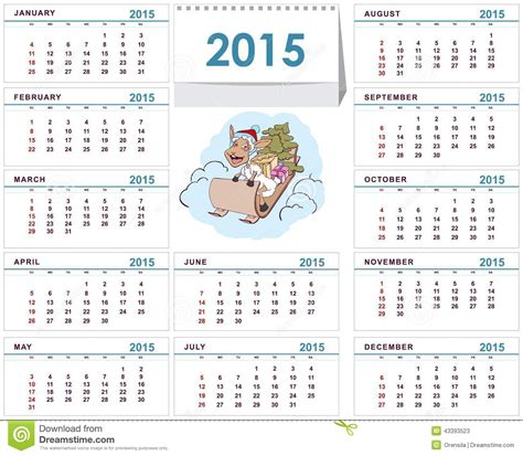 calendrier bureau photo calibre 2015 de calendrier de bureau illustration de