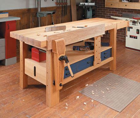 garage workbench plans shaker style workbench woodsmith plans