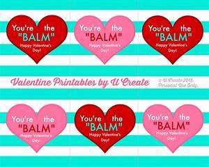 Valentine Lip Balm Printables