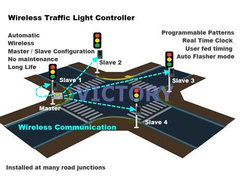 Solar Wireless Traffic Light Control System,road Traffic
