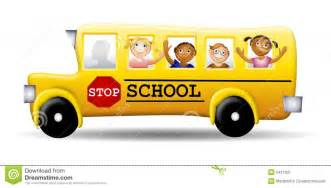 School Bus with Kids Clip Art