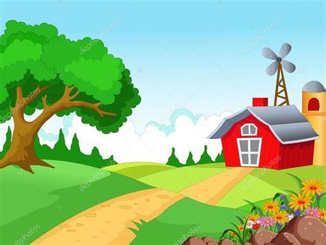 vector granja fondo de la granja  el granjero