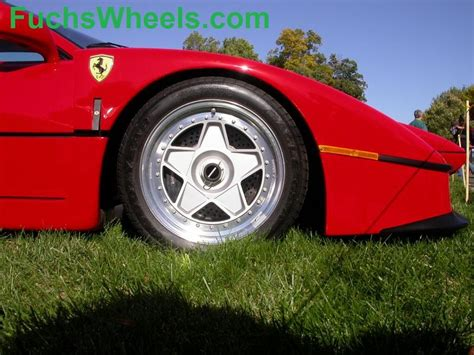 ferrari f40 wheels fuchs wheels