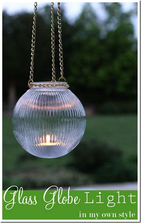 how to make outdoor glass globe lights