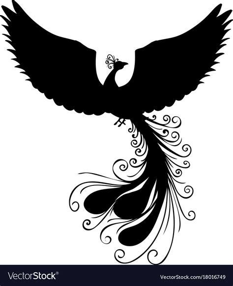 (mope.io beta update!) 236 475 просмотров 236 тыс. Phoenix bird silhouette ancient mythology fantasy Vector Image